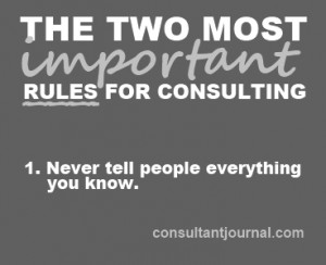 Rules of consulting