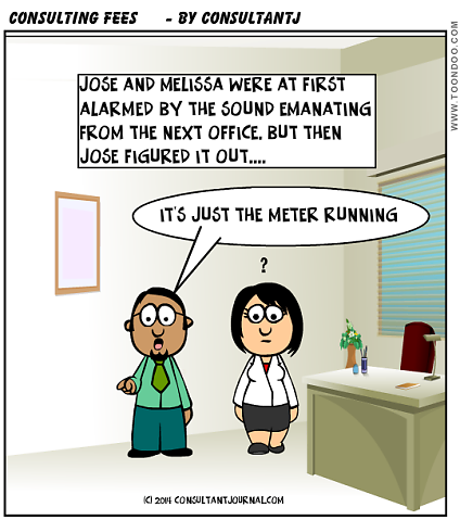 Consulting Fees Cartoon