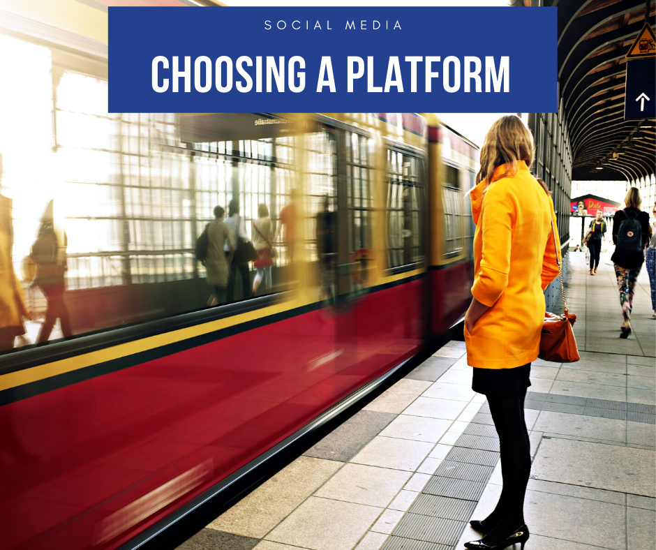 Social Media Platform - person watching train from platform
