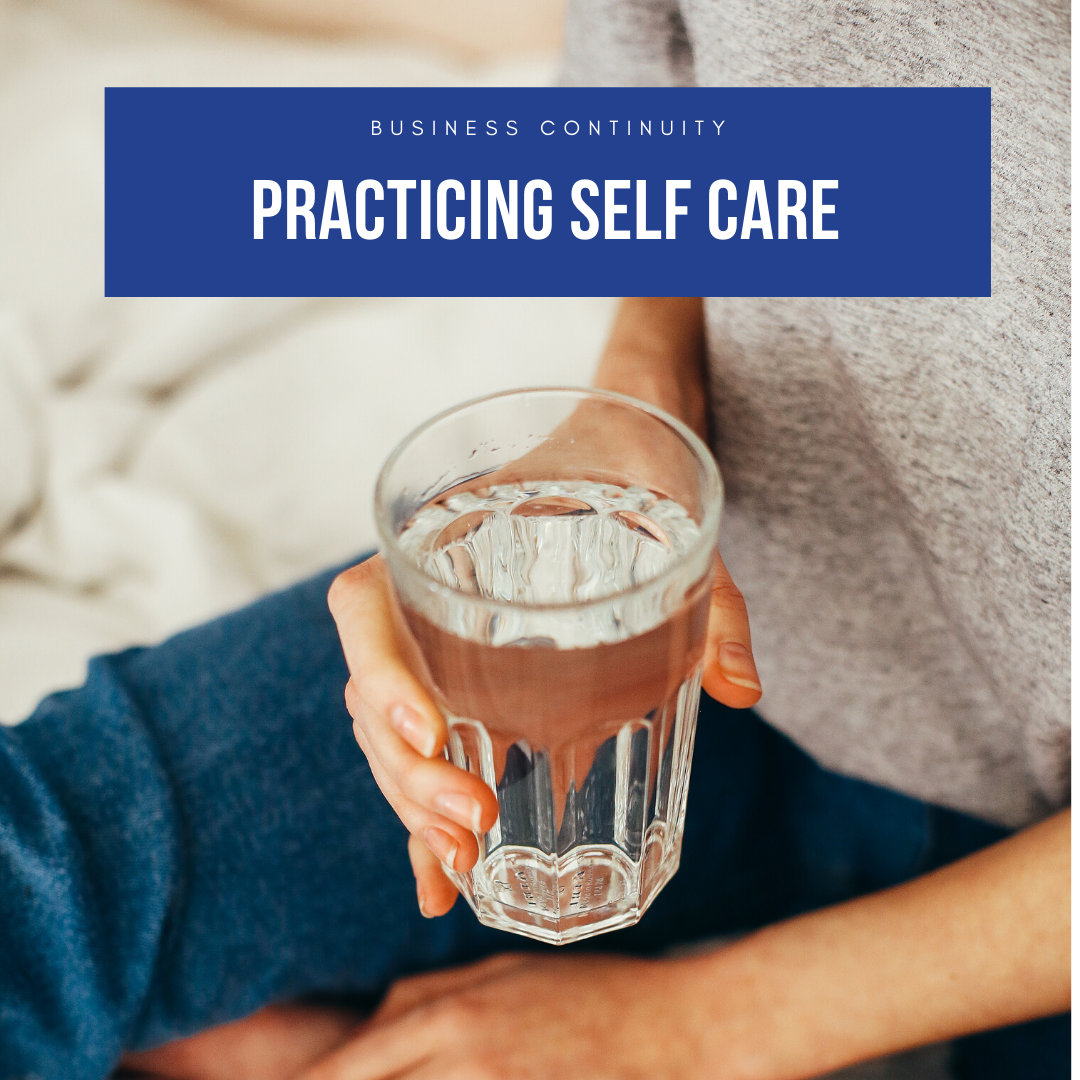 Self Care - person holding glass of water